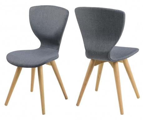 Set 2 stolov Gongli Dark Grey