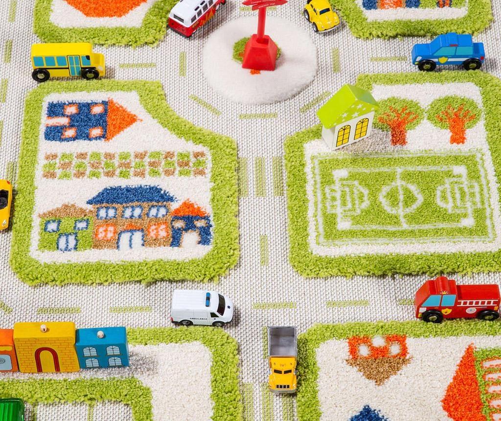 Koberec na hraní Traffic Mini 3D Green 80x113 cm