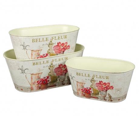 Σετ 3 ζαρντινιέρες Belle Fleur