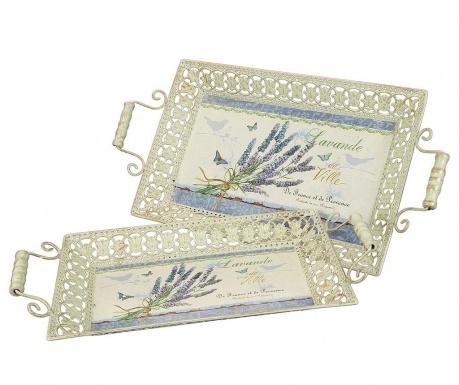 Σετ 2 δίσκοι σεβιρίσματος Lavender
