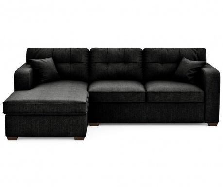 Разтегателен ляв ъглов диван Melvin Black
