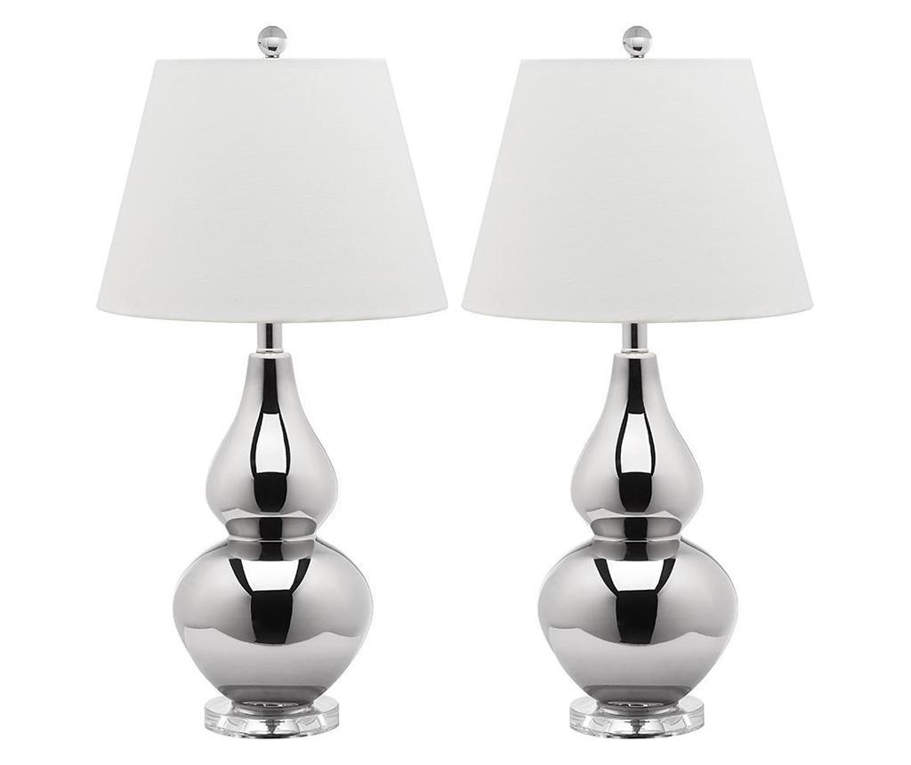 Sada 2 lamp Hattie Silver
