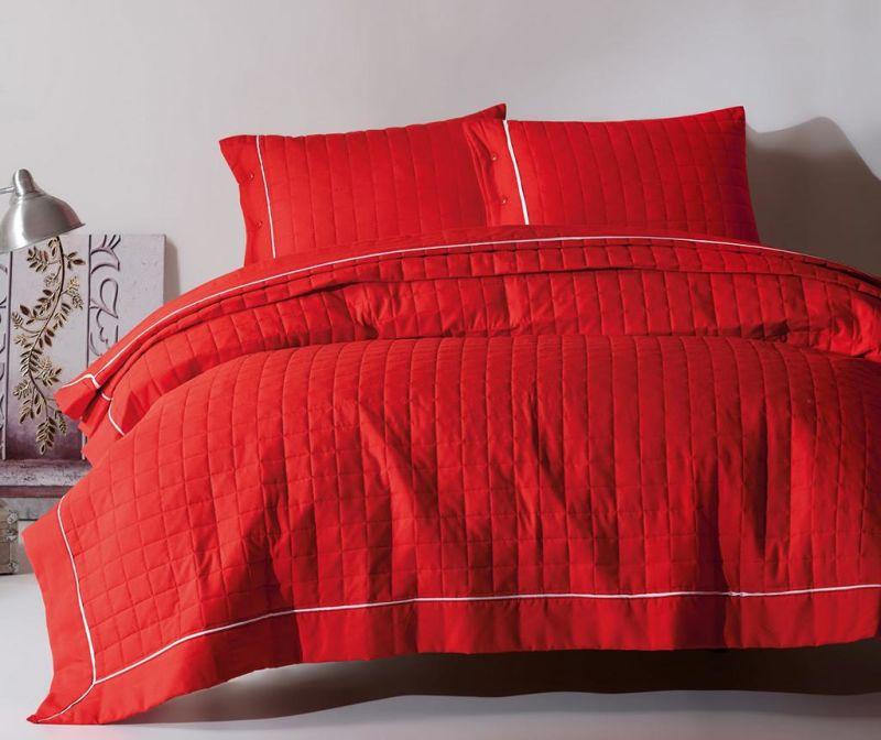 Duzboya Red Kétszemélyes steppelt ágytakaró garnitúra