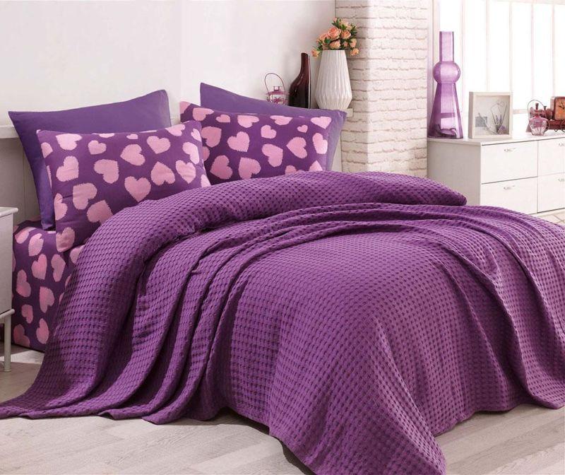 Спално бельо Single Pique Parikalpli Purple