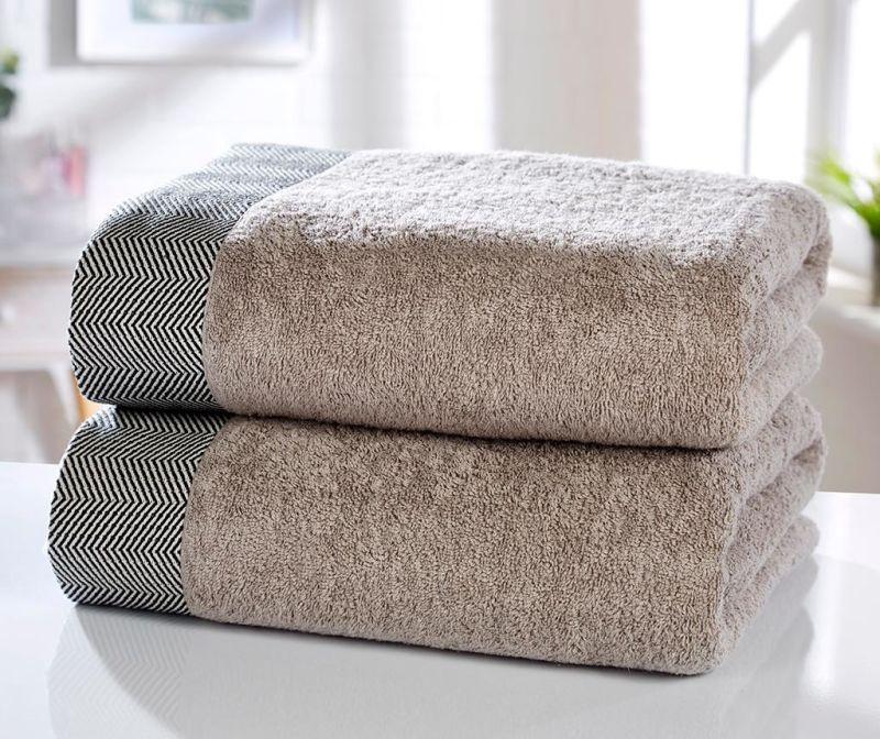 Sada 2 ručníků Tidal Natural 90x140 cm