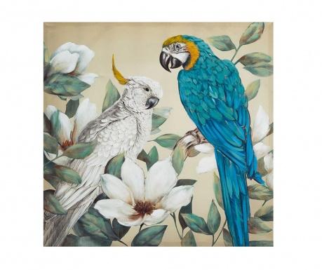 Slika Parrots 100x100 cm