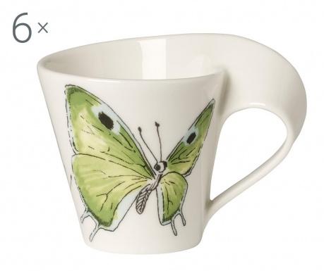 Sada 6 šálok Espresso Butterfly 80 ml