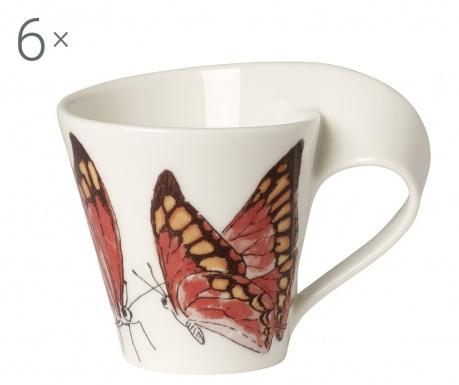 Sada 6 šálok Espresso Butterflies 80 ml