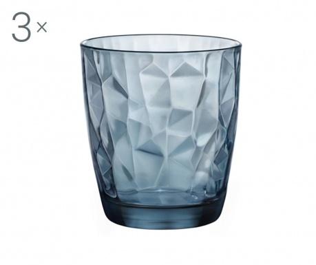 Set 3 čaše Diamond Ocean Blue 300 ml
