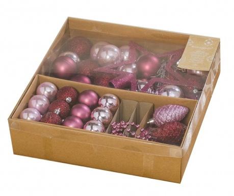 Set decoratiuni pentru brad 50 piese Pink Christmas
