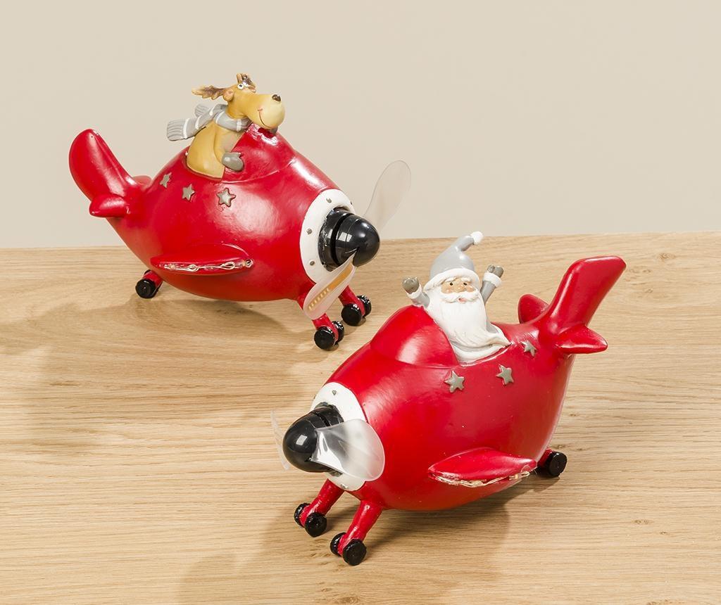 Světelná dekorace Airplane Santa
