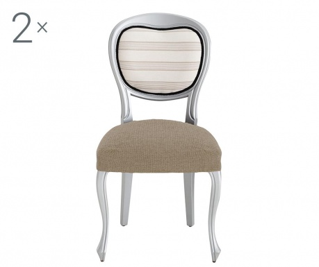 Σετ 2 ελαστικά καλύμματα καρέκλας Dorian Tan Backless