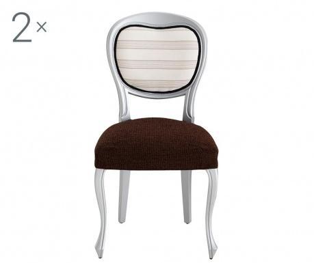 Σετ 2 ελαστικά καλύμματα καρέκλας Dorian Brown Backless