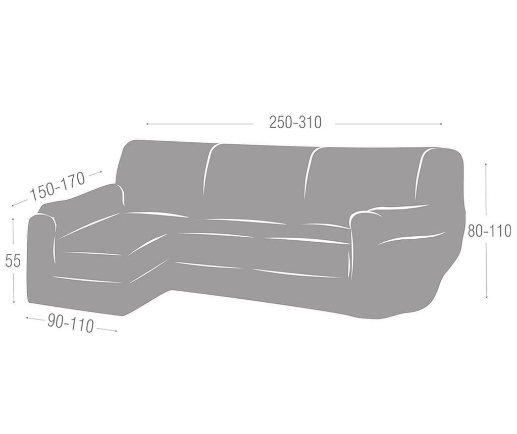 Husa elastica pentru coltar stanga Teide Grey