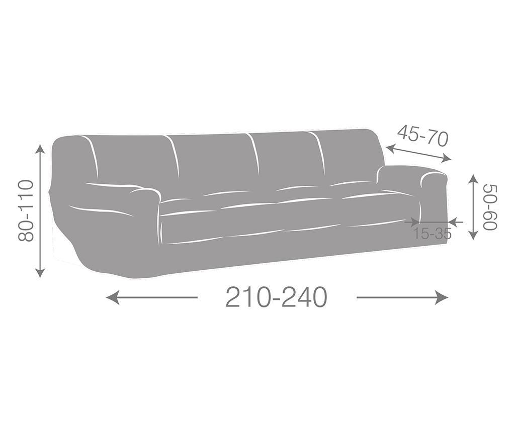 Еластичен калъф за канапе Ulises Grey 210-240 см
