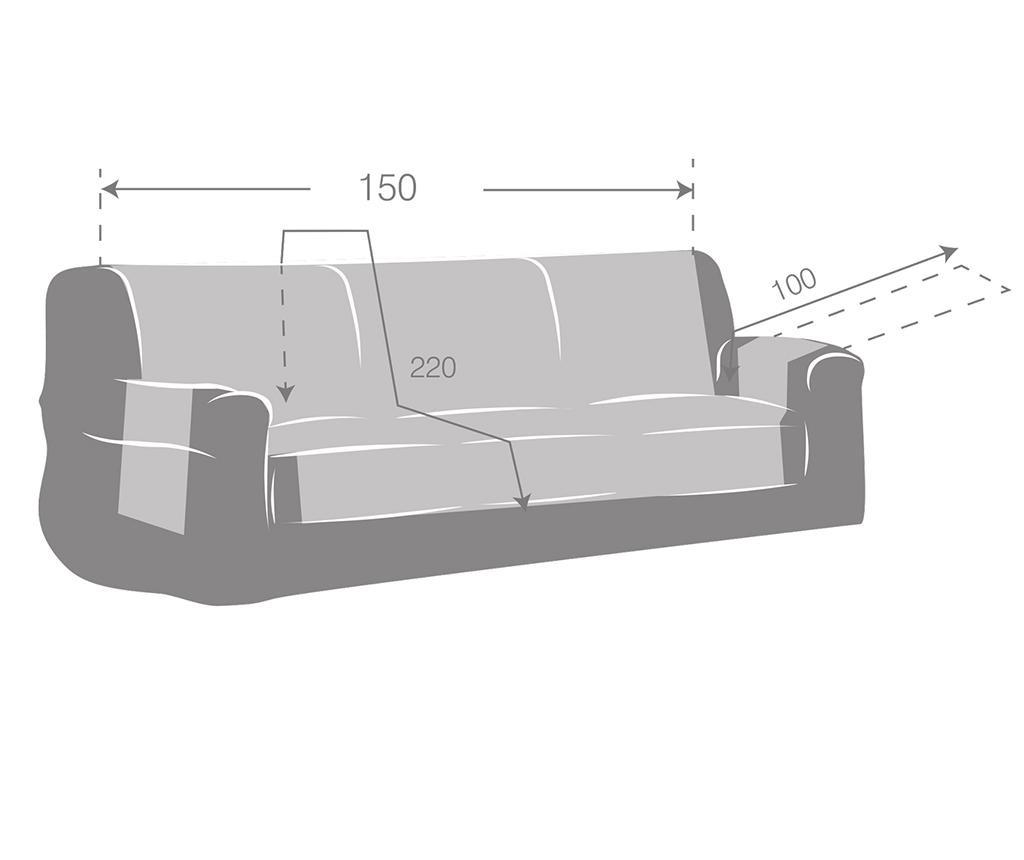Husa pentru canapea Zoco Brown 150 cm