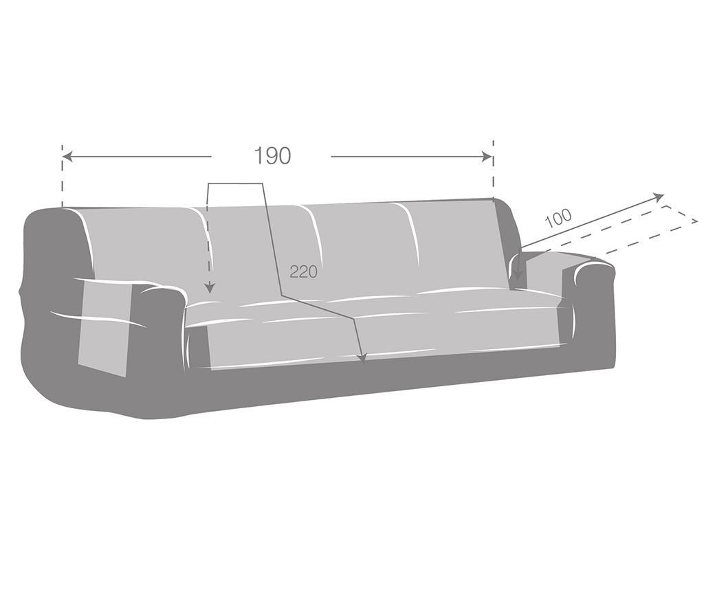 Husa pentru canapea Zoco Grey 190 cm