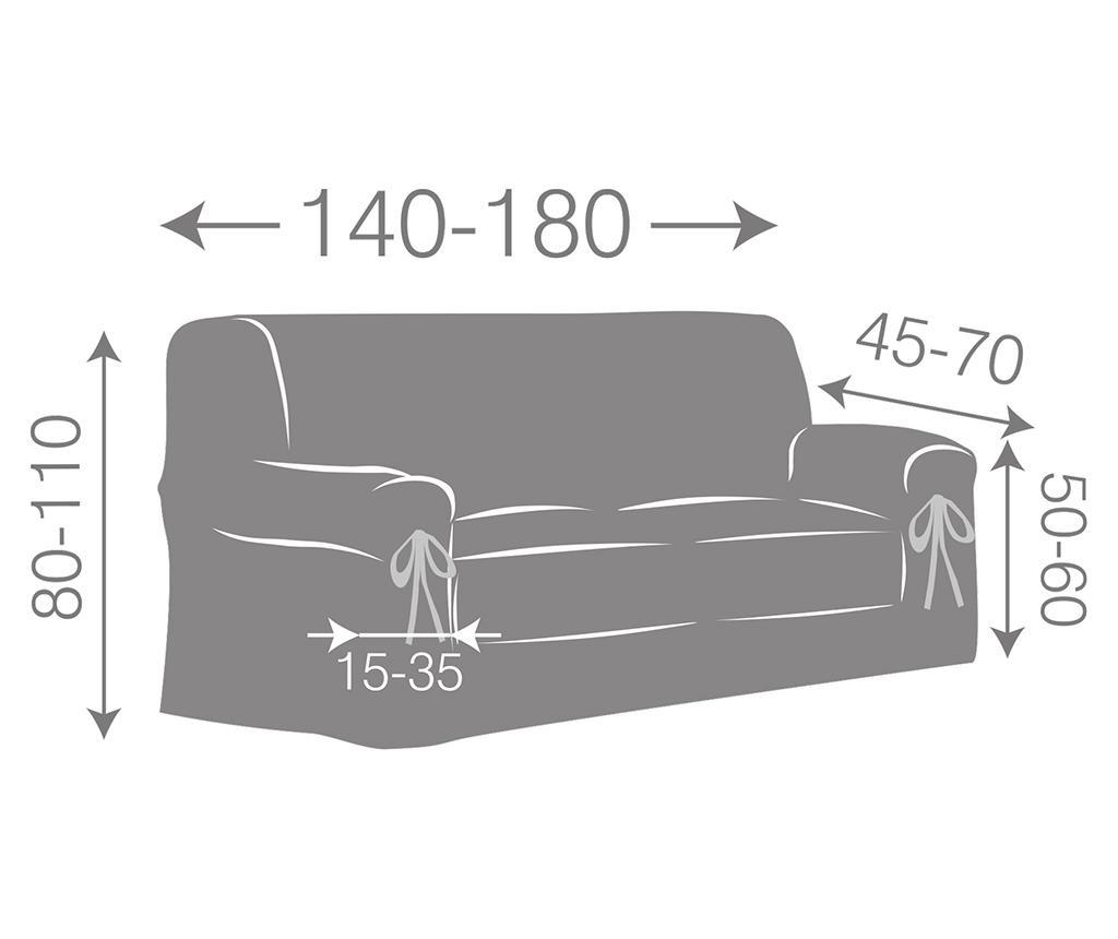 Регулируем калъф за канапе Paola Ecru Bows 140-180 см
