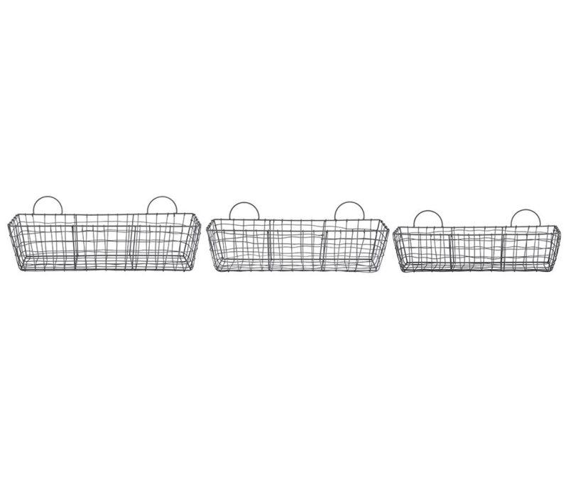 Set 3 košare Wire