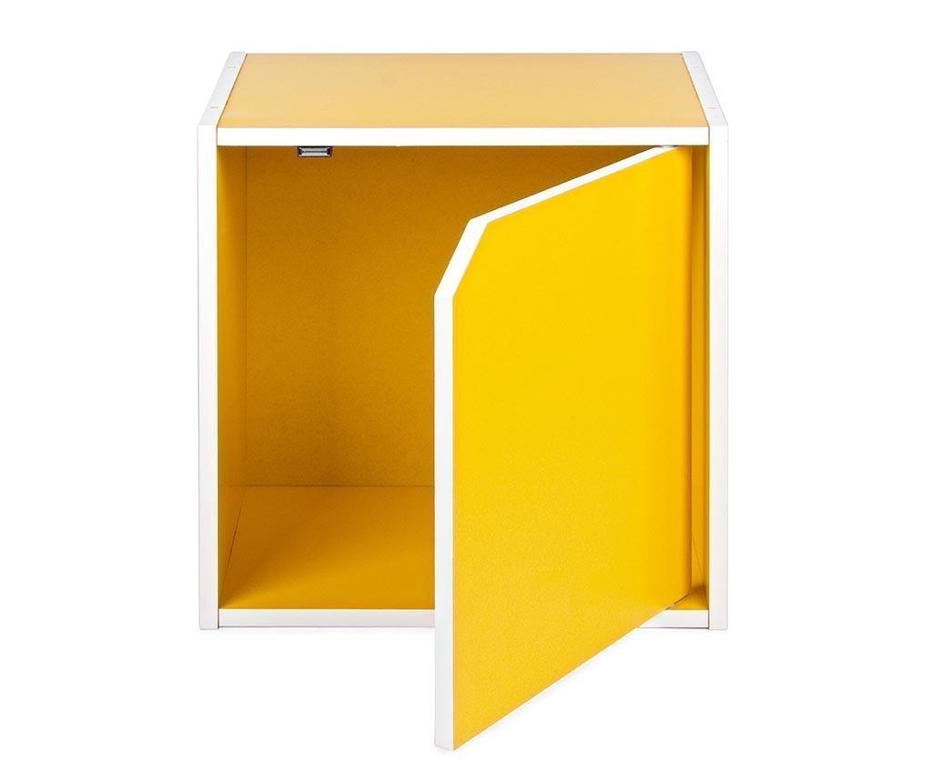 Modulárny nábytkový diel Cube Door Yellow