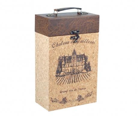 Кутия за 2 бутилки вино Castle