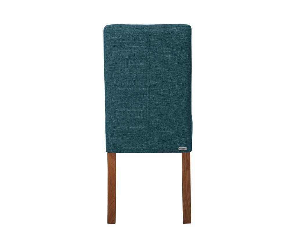 Set 4 scaune Tonka Brown Turquoise