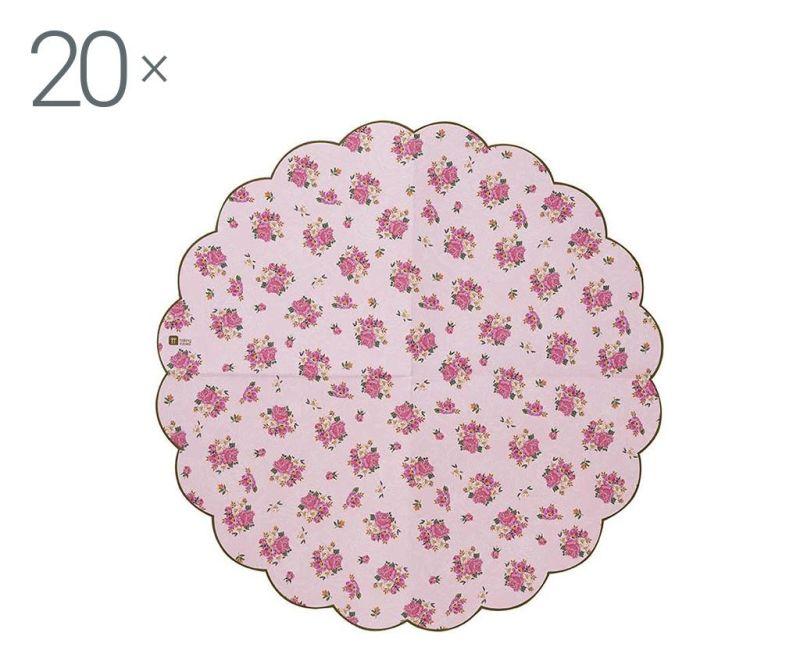 Sada 20 servítok Scaloped Florals