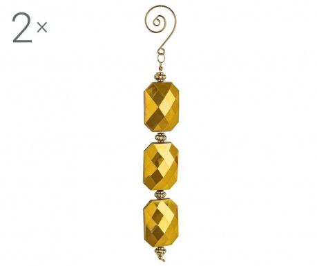 Set 3 decoratiuni suspendabile Diamond Rectangle