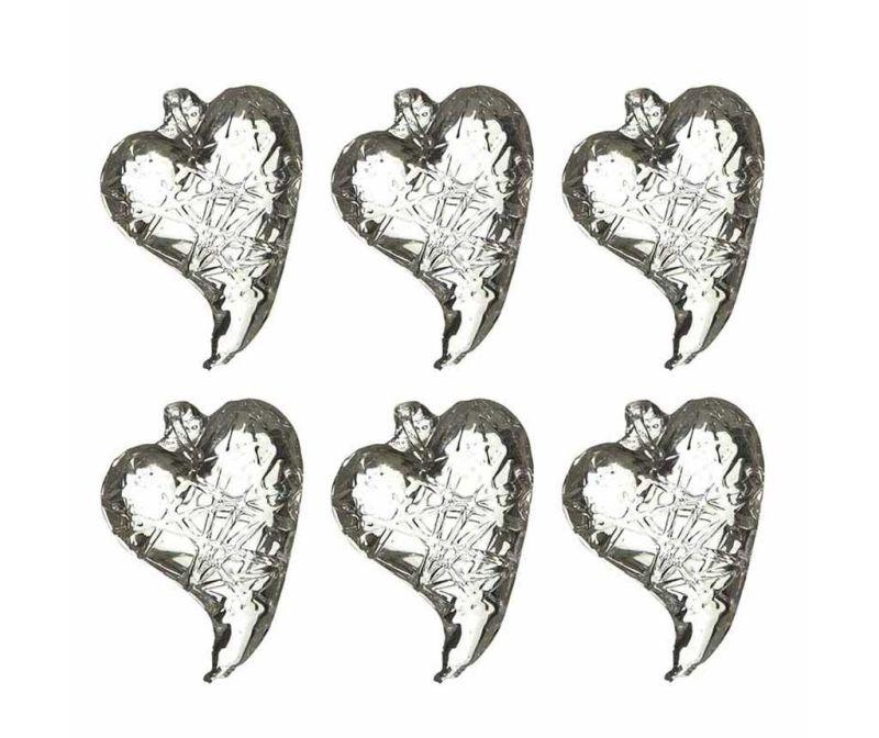 Glass Hearts 6 db Felfüggeszthető dekoráció