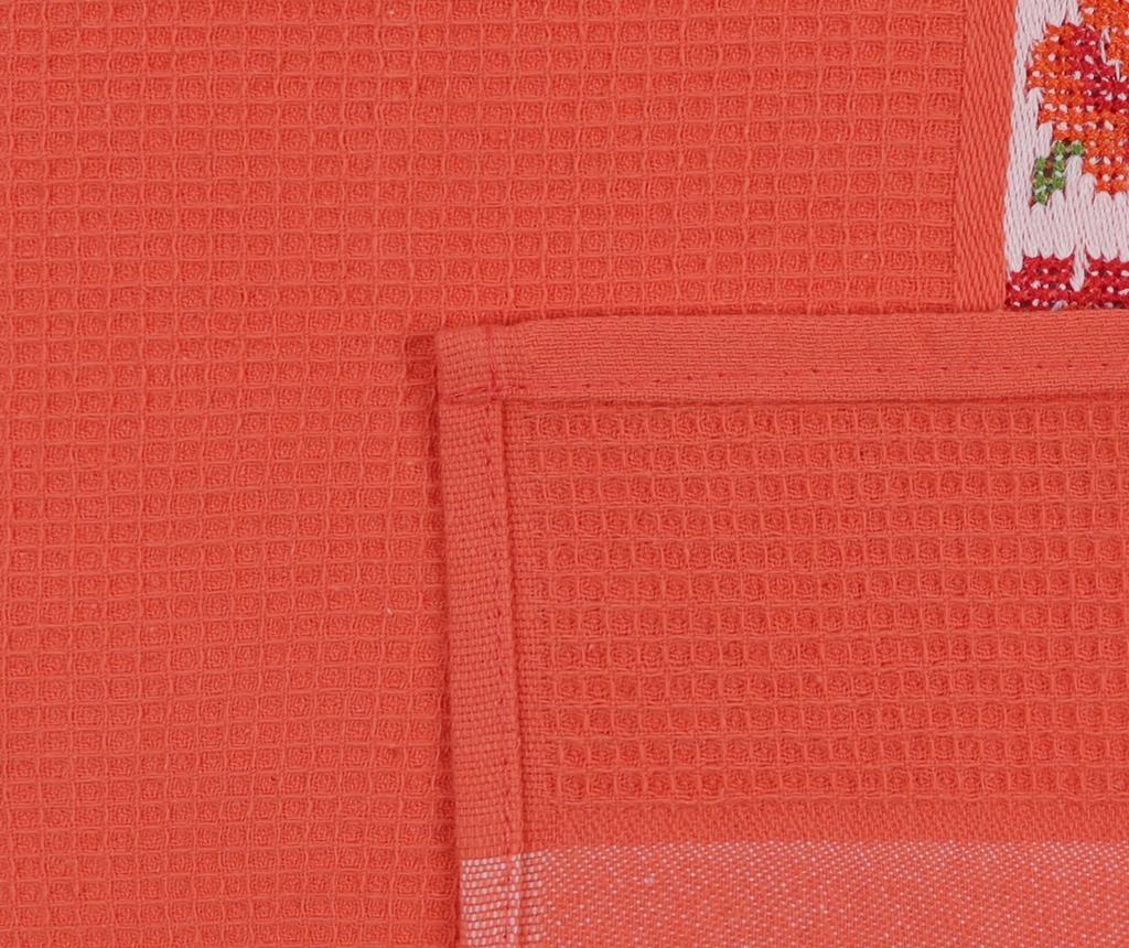 Set 6 kupaonskih ručnika Pecetelik  Orange 45x70 cm