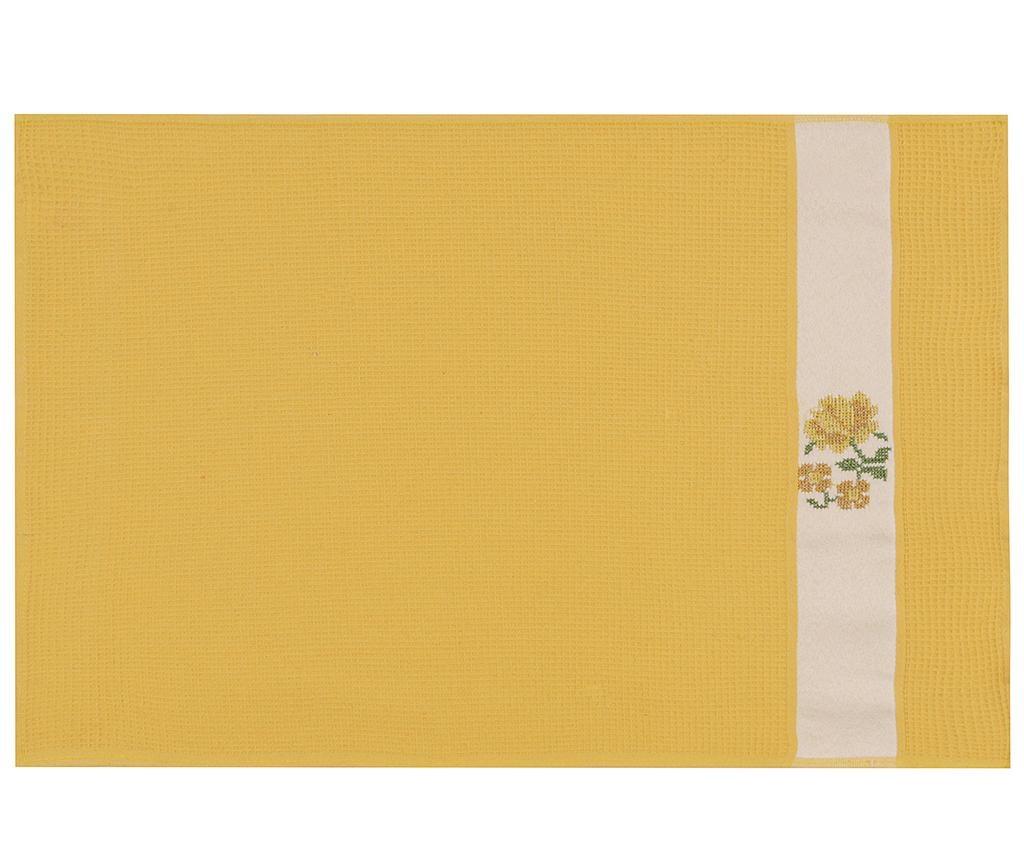 Set 6 kupaonskih ručnika Pecetelik  Yellow 45x70 cm