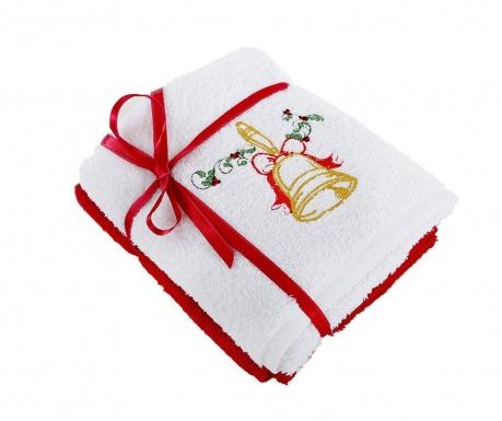 Σετ 2 πετσέτες μπάνιου Bell White 50x90 cm