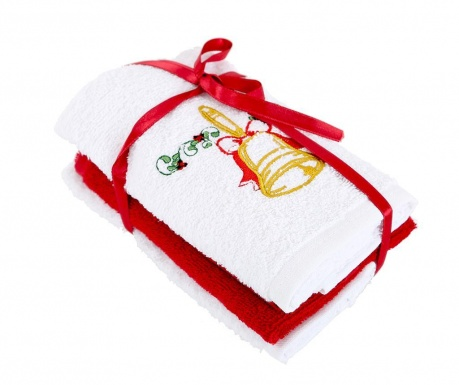 Σετ 3 πετσέτες μπάνιου Bell White 30x50 cm