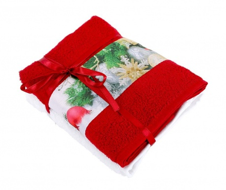 Σετ 2 πετσέτες μπάνιου Fancy Red 50x90 cm