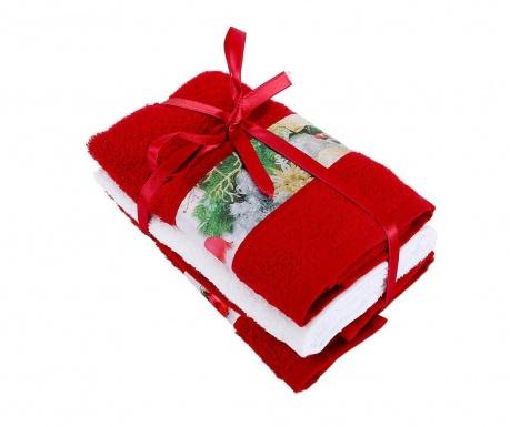 Σετ 3 πετσέτες μπάνιου Fancy Red 30x50 cm