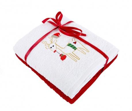 Σετ 2 πετσέτες μπάνιου Happy White 50x90  cm