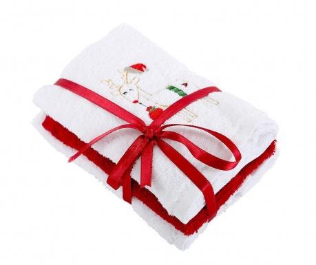 Σετ 3 πετσέτες μπάνιου Happy White 30x50 cm