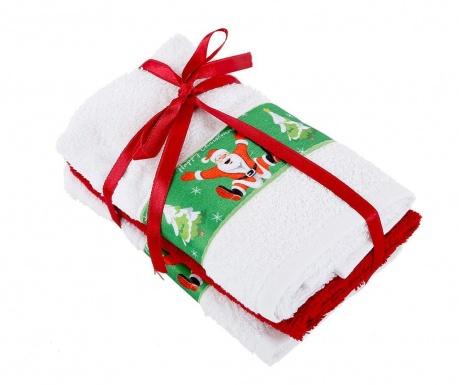 Σετ 3 πετσέτες μπάνιου Jump White 30x50 cm