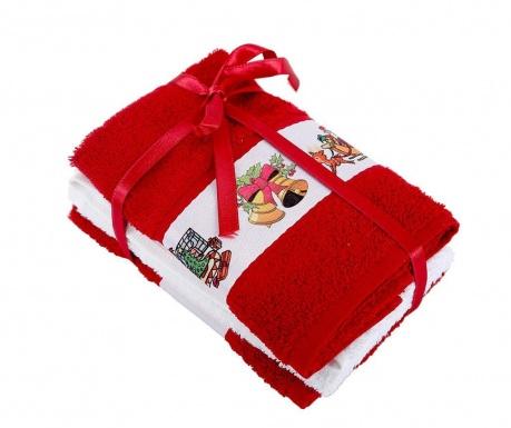 Σετ 3 πετσέτες μπάνιου New Year Red 30x50 cm