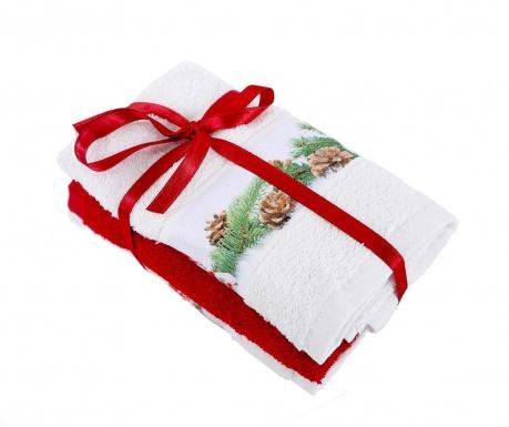 Σετ 3 πετσέτες μπάνιου Snowman White 30x50 cm