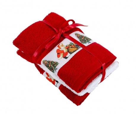 Σετ 3 πετσέτες μπάνιου Surprise Red 30x50 cm
