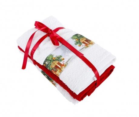 Σετ 3 πετσέτες μπάνιου Warm 30x50 cm