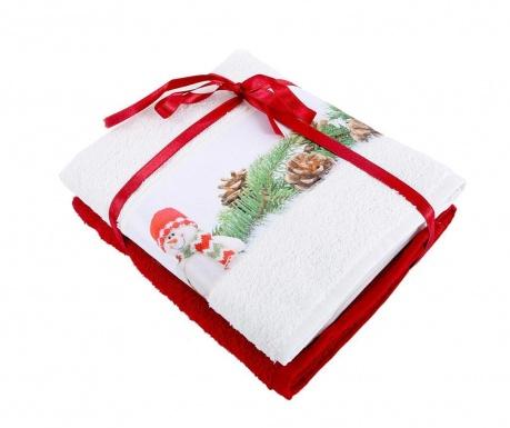 Σετ 2 πετσέτες μπάνιου Snowman 50x90 cm