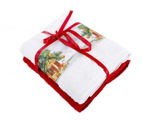 Σετ 2 πετσέτες μπάνιου Warm 50x90 cm