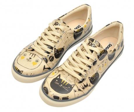Γυναικεία πάνινα παπούτσια Monochrome Cats