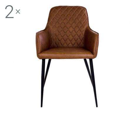 Set 2 scaune Harbo Vintage Brown
