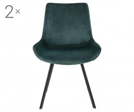 Zestaw 2 krzeseł Drammen Velvet Green
