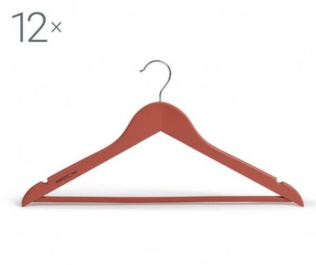 Σετ 12 κρεμάστρες Laccato Red