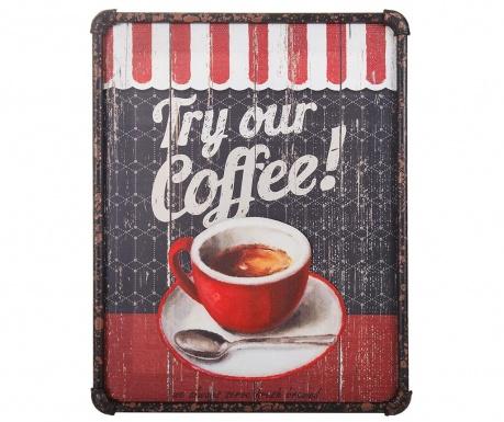 Πίνακας Try Our Coffee 3D 40x50 cm