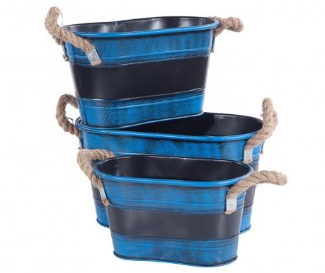 Σετ 3 γλάστρες Vicenza Blue